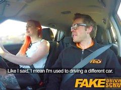 Fake Driving School Sexy Redhead Lüste nach Lehrer großen Schwanz