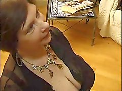 Huge titted mature sucking and fucking anal