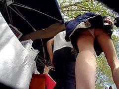 Schnell Uppie, der chinesischen Mädchen mit ihrem Freund