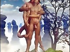 3D Армейские Мальчики и Фэнтези Гомосексуалисты !