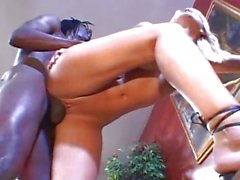 Stacy Thorn getting her pink crack fucked with big black dick
