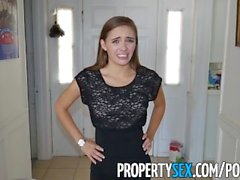PropertySex - Client homemade sex video with foxy petite real estate agent