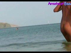 Sexy Random Amateurs Nudits Beach Voyeur Video