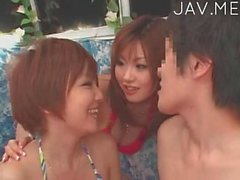 Great orgy with asian babes