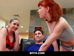 BFFS - Slutty Bestfriends Have A Pajama Party Orgy
