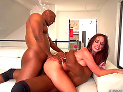 Vídeos porno HD de Jada Stevens receives an interracial double penetration