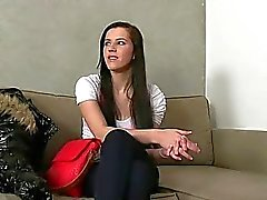 Arousing audition with hot babe