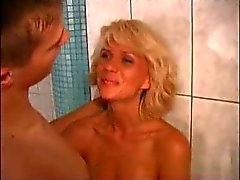 Beautiful Mom Elena With A Boy In Sauna