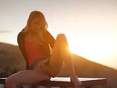 Sunset in Malibu in art teasing movie