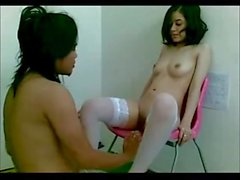 Asian Girl Fucked By Long Hair Man