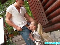 Cheating glamour housewife mouth fucked by hubby
