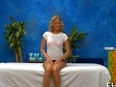 Gorgeous blonde babe needs a massage