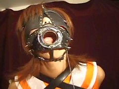 Japanese bondage with leather