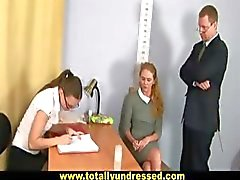 Nude job interview for sweet blonde secretary