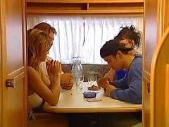 German couple has hard sex in camper