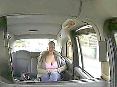 Massive boobs blonde whore pounded for a free taxi fare