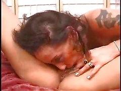 Expert brunette lesbian clit sucking for big tits blonde pt3