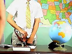 Homosexuella killar Krys Perez leker en super elak professor som under är kubikmeter