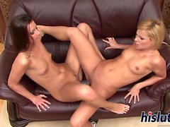 Sylvia and Cindy have some naughty fun