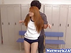 Petite asian schoolgirl screwed in threeway