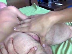 Barebacked stud fingered