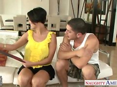Chesty gf Dylan Ryder taking cock
