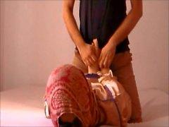 Beautiful Arab girl tickle hogited