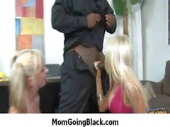 Hot Ssmoking mom getting her pussy explored by black 16