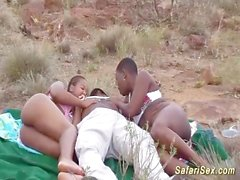 extreme african safari sex orgy