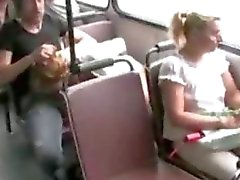 Girl gets fucked on public bus