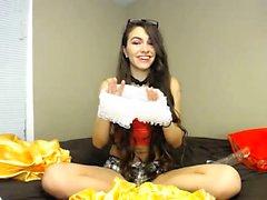 Stunning Brunette Solo Fun Webcam