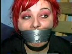 cute punk girl tied up tight