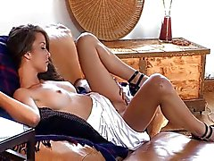 Malena Morgan playing with her sweet holes