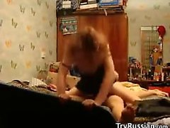 Russian Couple Like The Fucking To Be Rough