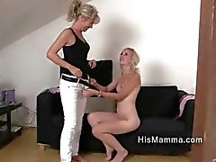 Girlfriend gets seduced by mature lesbian who wants to touch her tight pussy