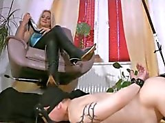 Footrest for Hot Mistress in Boots