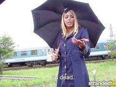 StrandedTeens - Hitchhiking Steurtess adora galo