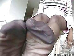 Black pantyhosed ebony