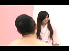 Petite Japanese babe gets used and abused by a gang of lust