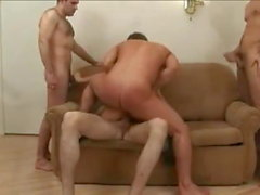 An asian milf and 4 guys