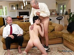 Teen Slut Alex Harper Gives Old Men Great Head