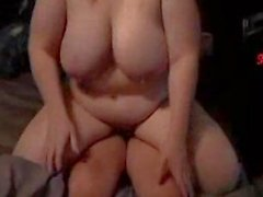 BBW Gets Fucked With Legs Tied Up