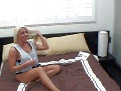 Kori Taylor amateur teen blonde girlfriend with big ass and big tits doing blowjob