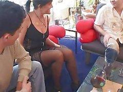 german mature gang bang