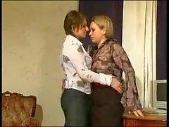 Sarah & Stella Lesbians In Pantyhose