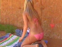 Alison Angel Masturbates On The Beach
