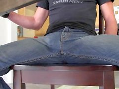 Cum in jeans