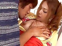 Oriental darling enjoys fingering and rug munch