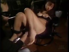 Submissive Japanese girl with big boobs is made to cum with