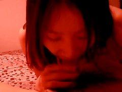 Korean Civilian Hot Cute Wife In Red Room